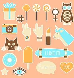 Sticker fashion badges vector