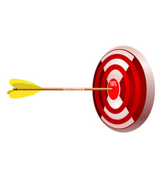 target with arrow concept - success vector image
