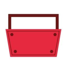 tool kit box construction repair design vector image vector image