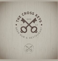 Two cross keys pub logo vector