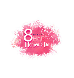Womens day water color background with floral vector