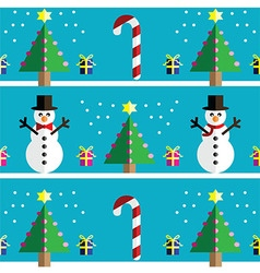 Geometric xmas pattern with snowman vector