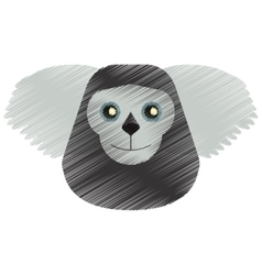 drawing black bearded saki animal brazil vector image