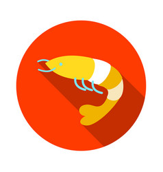 Shrimp icon prawn summer vacation vector