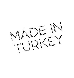 Made in turkey rubber stamp vector