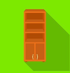office bookcase icon in flat style isolated on vector image