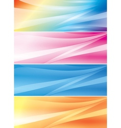 Set of abstract color backgrounds headers vector