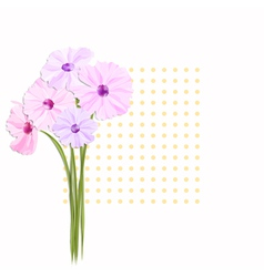 Springtime greeting card with colorful flowers vector