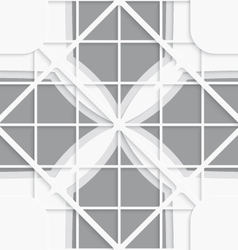 Seamless white diagonal square layered ornament vector