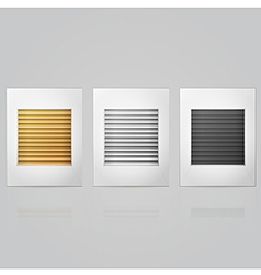 window louvers in frame vector image