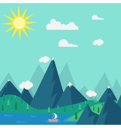 Natural landscape in the style of flat vector