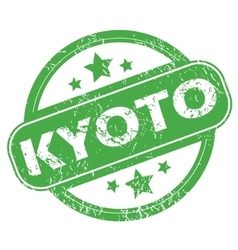 Kyoto green stamp vector