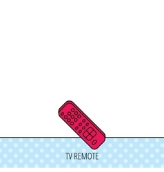 Remote control icon tv channels sign vector