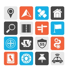Gps navigation and road icons vector