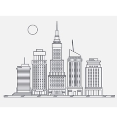 Business center of big city broadway street vector