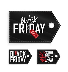Black friday set labels vector