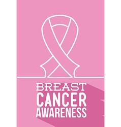 Breast cancer awareness design vector