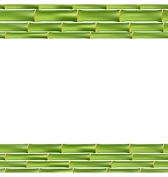 Bamboo frame isolated vector