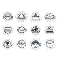 Designers collection of sunburst vector image