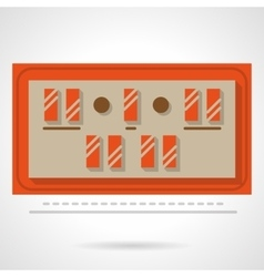 Sport scoreboard flat color design icon vector image