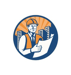 Construction engineer vector