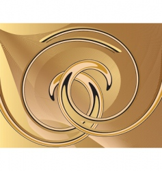 abstract yellow background with spirals vector image