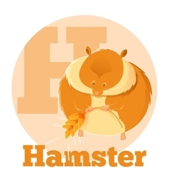Abc cartoon hamster vector