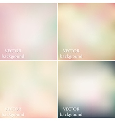 Abstract colorful blurred smooth pastel vector