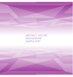 abstract purple geometric polygonal background vector image vector image