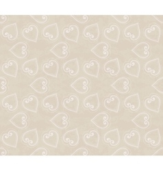 Abstract seamless hand-drawn pattern with hearts vector image vector image