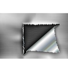 background torn metal vector image