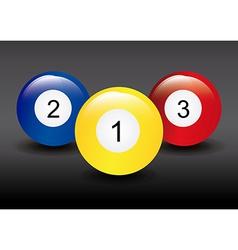 billiard design vector image