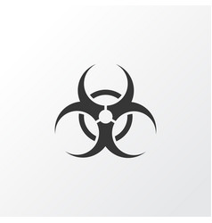 Bio-hazard icon symbol premium quality isolated vector