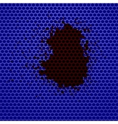 Blue Perforated Background vector image vector image