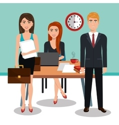Business people in training process isolated icon vector