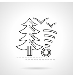 Camping service flat line design icon vector image vector image