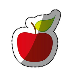 colorful apple fruit icon stock vector image vector image