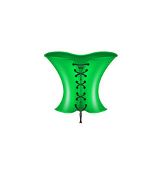 Corset in green and black design vector