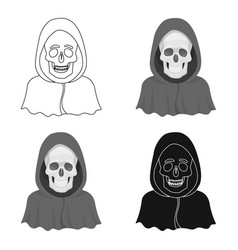 death icon in cartoon style isolated on white vector image
