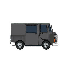 delivery service truck fast shipping postal vector image