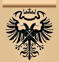 doubleheaded heraldic eagle vector image