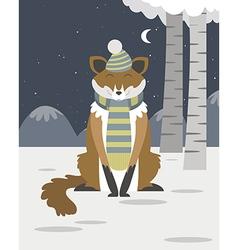 Fox in the snow vector