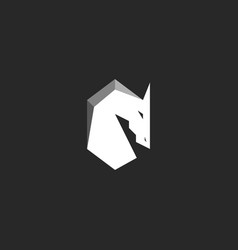 horse head logo abstract figure of a stallion vector image vector image