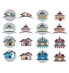 hotel logo vector image vector image