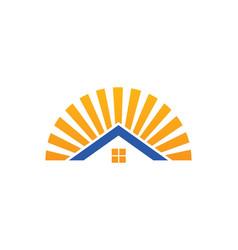 House shine icon logo vector
