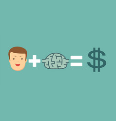 money and ideas make you happy and rich vector image