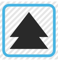 Move up icon in a frame vector