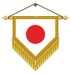 Pennant with the flag of japan vector