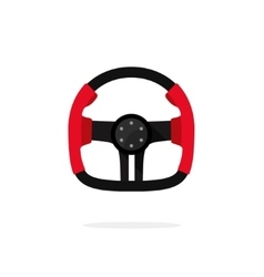 Racing steering wheel icon isolated creative auto vector image