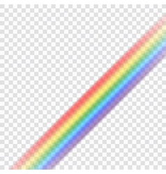 Rainbow icon realistic 9 vector image